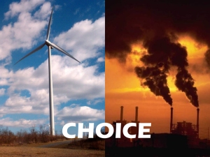 Choice: renewables vs fossils