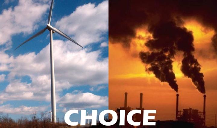 Choice: renewables vs fossils