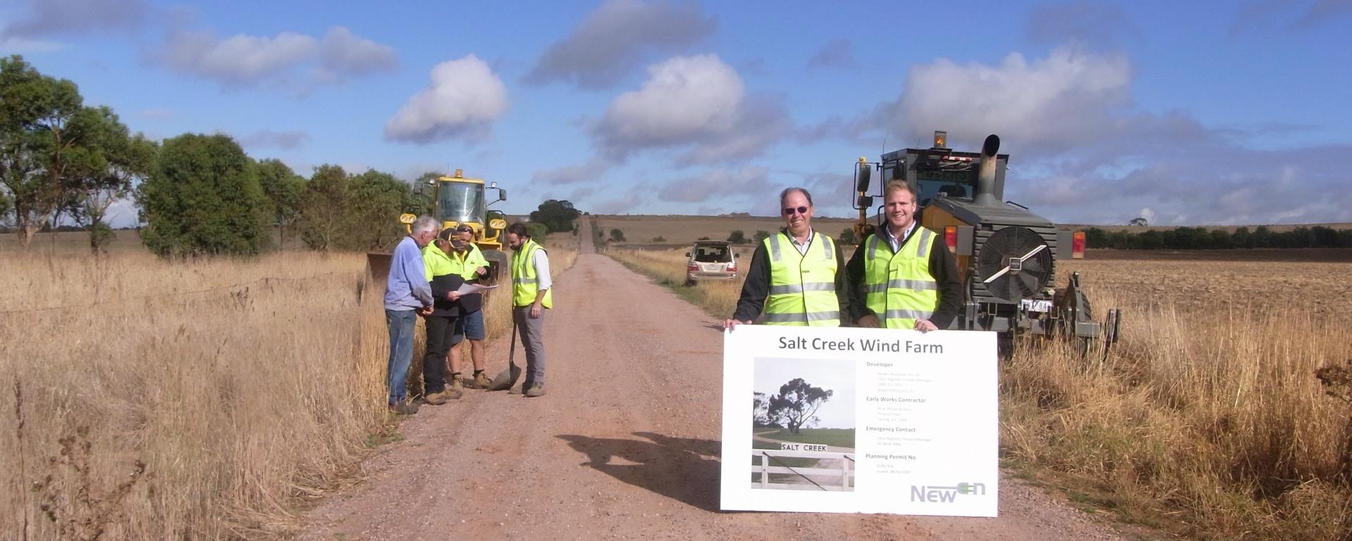 Salt Creek wind farm commences