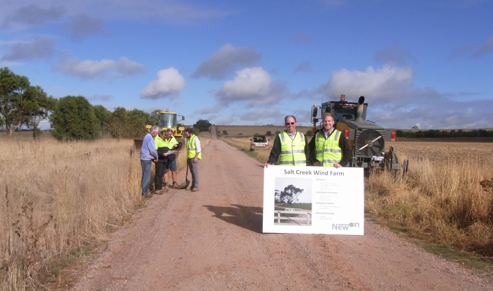 Salt Creek wind farm commences