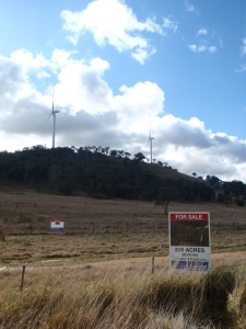 Cullerin Range windfarm property sale sign