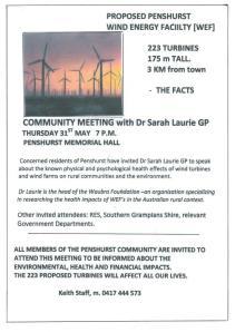 Penshurst anti-windfarm meeting flyer