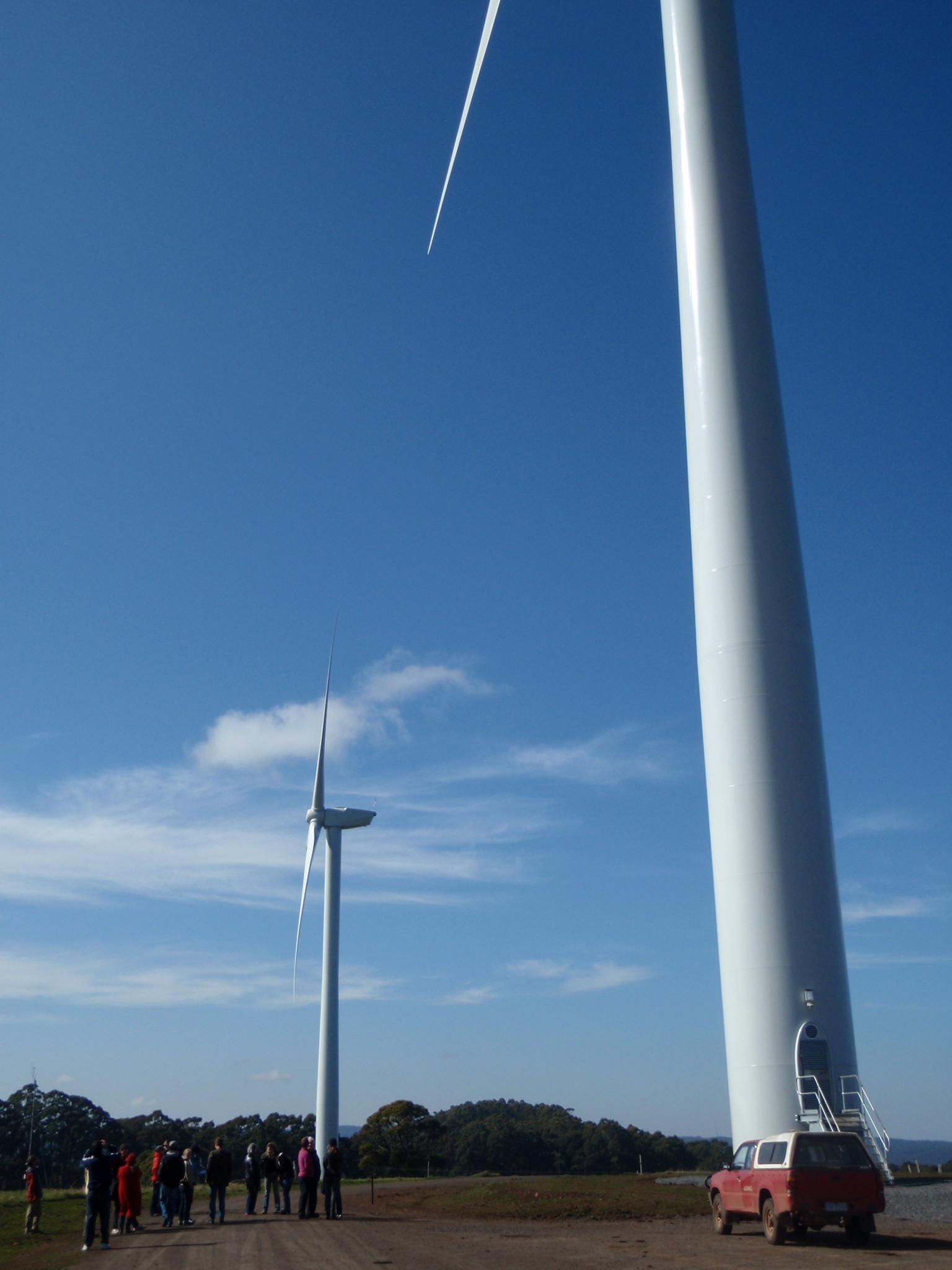 Hepburn Wind's two REpower 2.05MW turbines