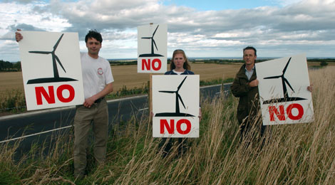 Anti-wind farm activists