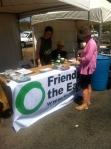 Yes 2 Renewables volunteers speak with community members in Broadford.