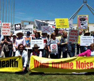 anti wind rally canberra