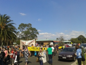 Morwell rallies for action