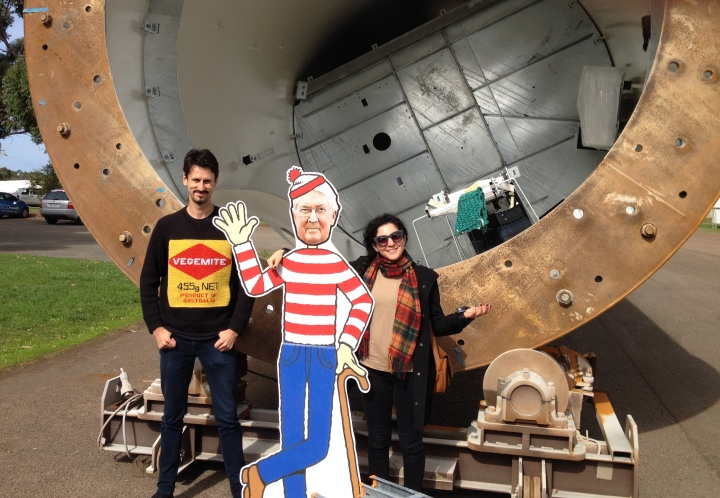 RET review chair, Dick Warburton, refused our invite to meet Portland's wind workers, so we brought Where's Warbo along!