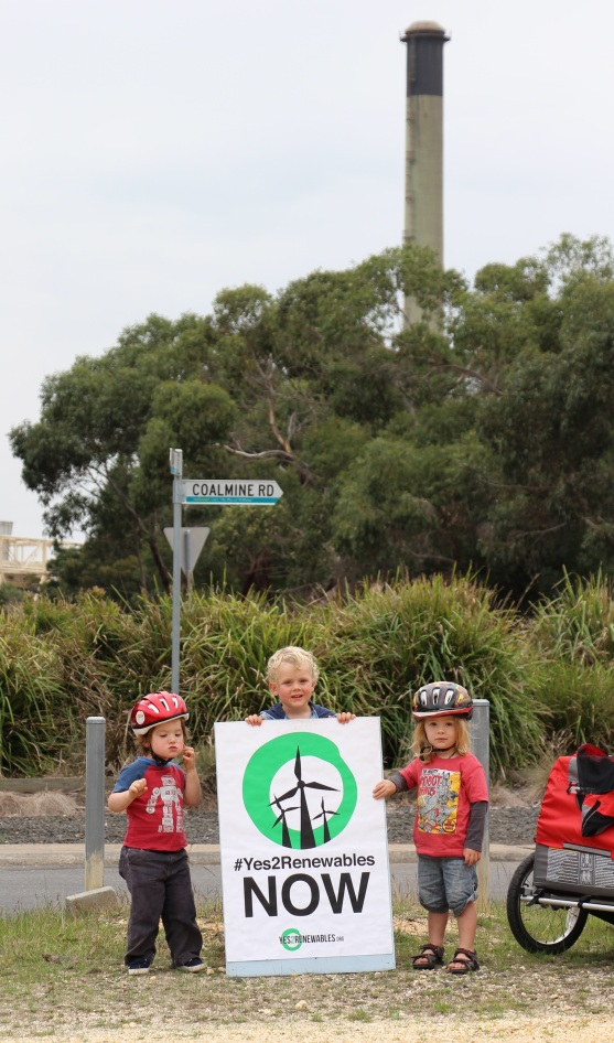 How old will these kids be when the Anglesea power plant is finally shut down?