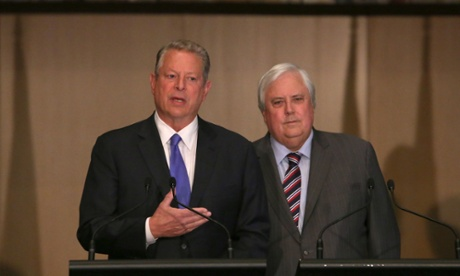 Al Gore and Clive Palmer Press Conference On Climate, Canberra, Australia