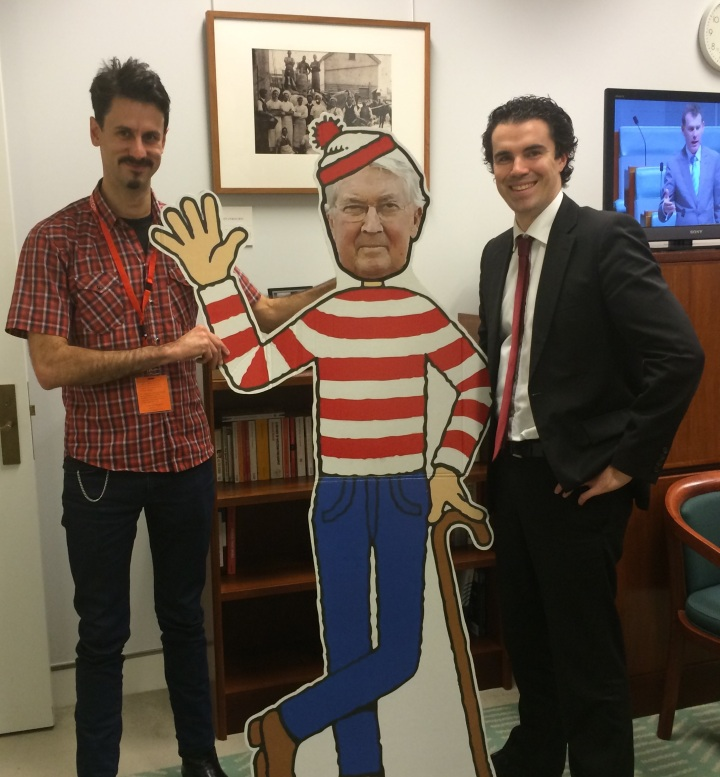 Labor MP Tim Watts - a strong supporter of the RET - meets Where's Warbo.