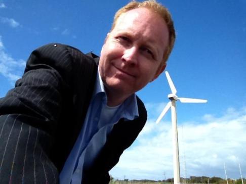 Greg wind turbine near portland_0