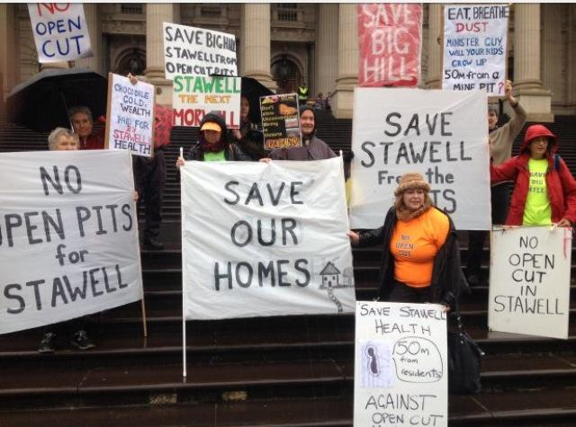 stanwell protesters