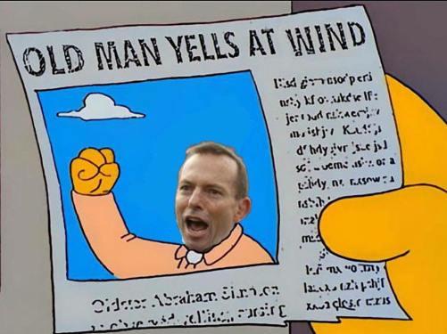 old man yells at wind