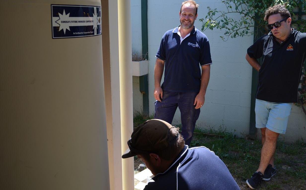 AHV solar hot water install
